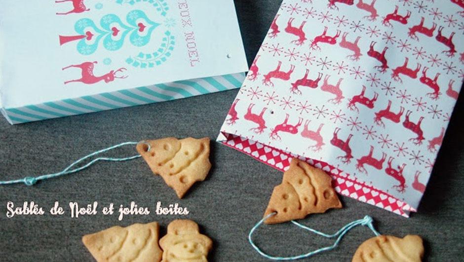 Sablés de Noël et jolie boîte à imprimer